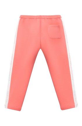 Детские хлопковые брюки EMPORIO ARMANI кораллового цвета, арт. 3KEP07/1JHSZ | Фото 2