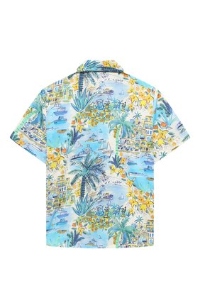 Детская хлопковая рубашка IL GUFO разноцветного цвета, арт. P21CC073C4069/2A-4A | Фото 2 (Материал внешний: Хлопок; Рукава: Короткие; Случай: Повседневный; Ростовка одежда: 18 мес | 86 см, 2 года | 92 см, 3 года | 98 см)
