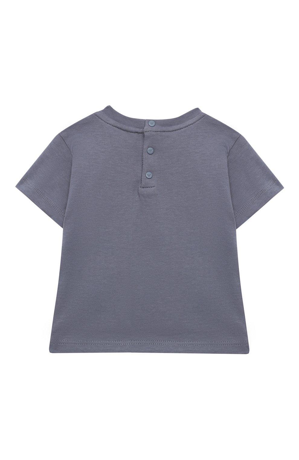 Детский комплект из двух футболок EMPORIO ARMANI белого цвета, арт. 3KHD01/4J09Z | Фото 3