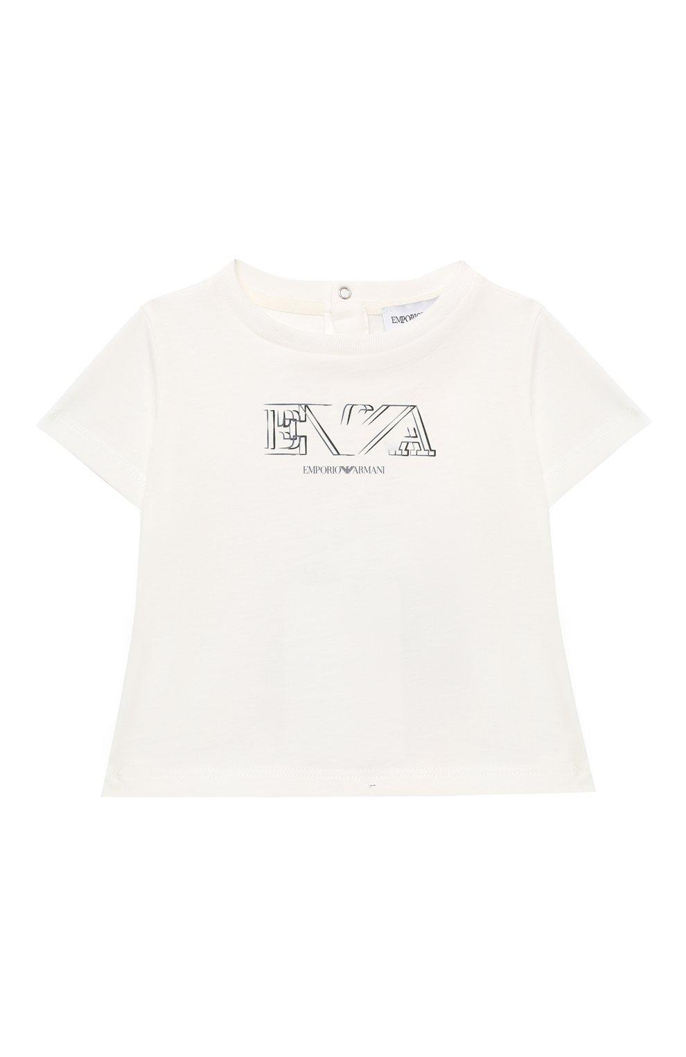 Детский комплект из двух футболок EMPORIO ARMANI белого цвета, арт. 3KHD01/4J09Z | Фото 5