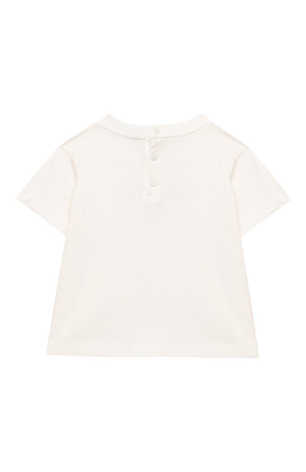 Детский комплект из двух футболок EMPORIO ARMANI белого цвета, арт. 3KHD01/4J09Z | Фото 6