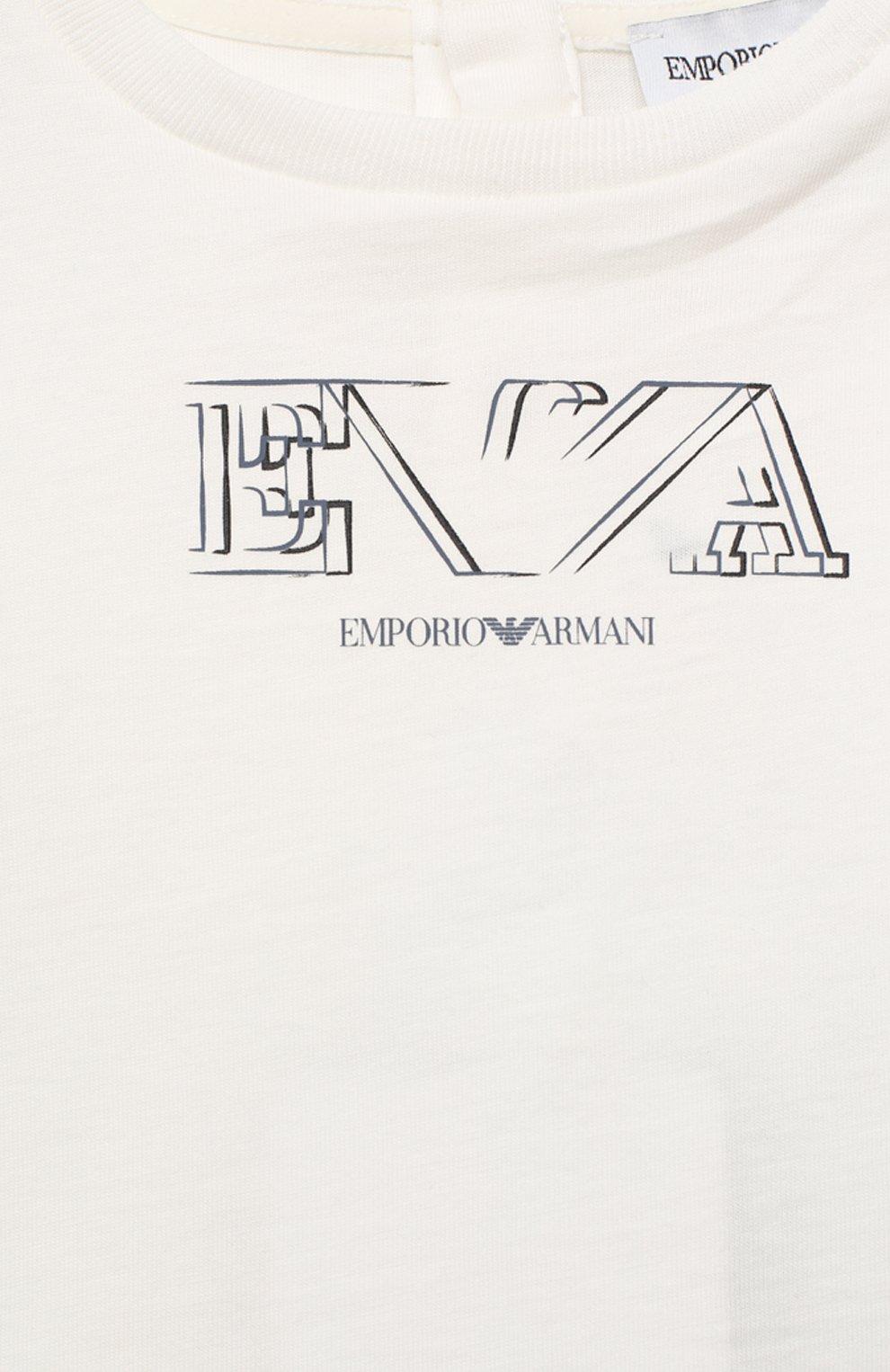 Детский комплект из двух футболок EMPORIO ARMANI белого цвета, арт. 3KHD01/4J09Z | Фото 7