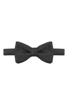 Мужской шелковый галстук-бабочка HUGO черного цвета, арт. 50447358 | Фото 1