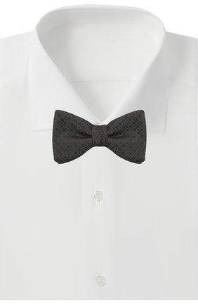Мужской шелковый галстук-бабочка HUGO черного цвета, арт. 50447358 | Фото 2