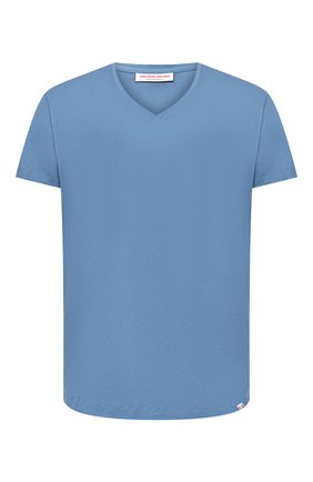 Мужская хлопковая футболка ORLEBAR BROWN голубого цвета, арт. 272636 | Фото 1