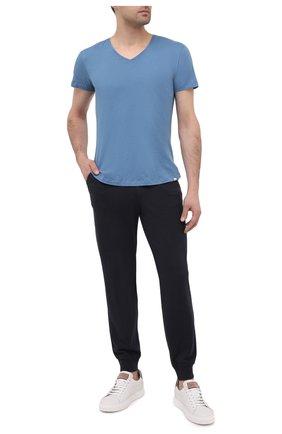 Мужская хлопковая футболка ORLEBAR BROWN голубого цвета, арт. 272636 | Фото 2