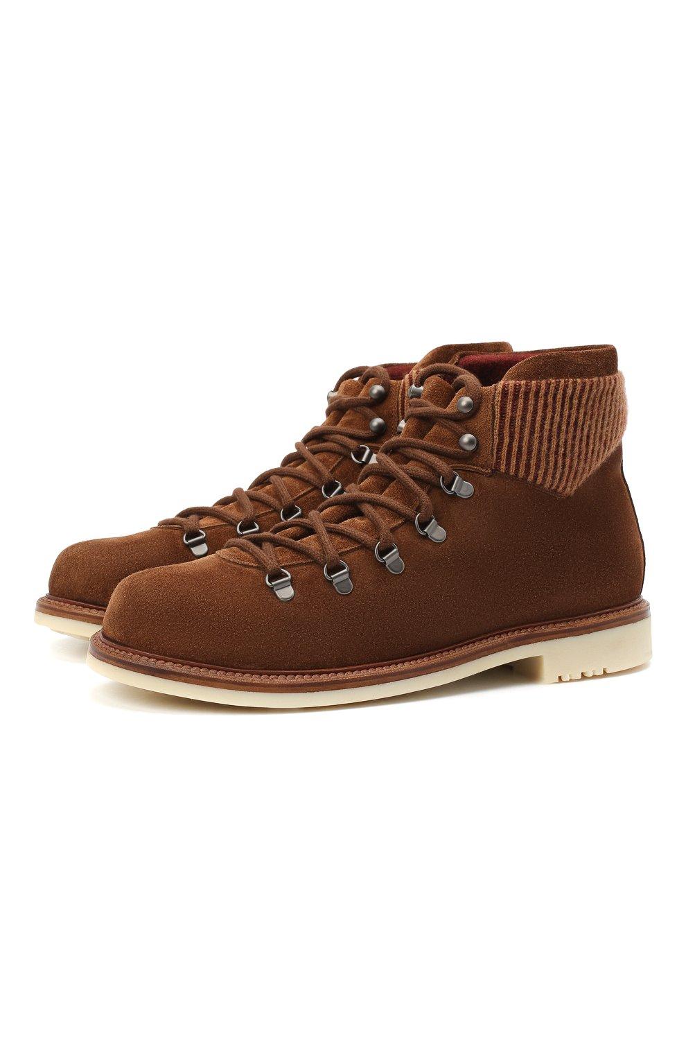 Мужские замшевые ботинки LORO PIANA светло-коричневого цвета, арт. FAL4424 | Фото 1