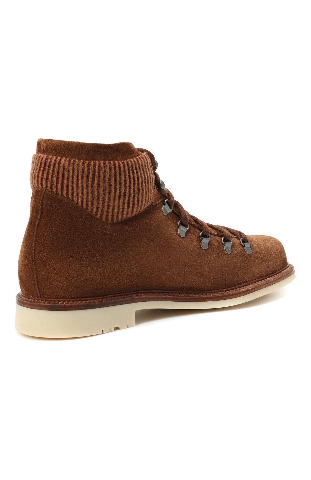 Мужские замшевые ботинки LORO PIANA светло-коричневого цвета, арт. FAL4424 | Фото 4
