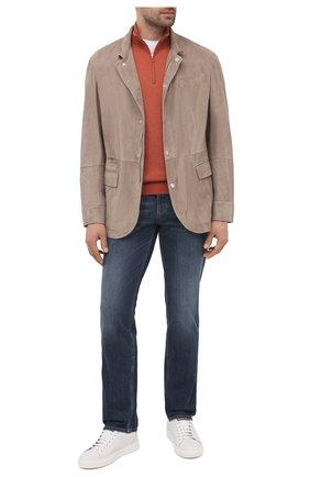 Мужской кашемировый джемпер LORO PIANA оранжевого цвета, арт. FAG4525 | Фото 2