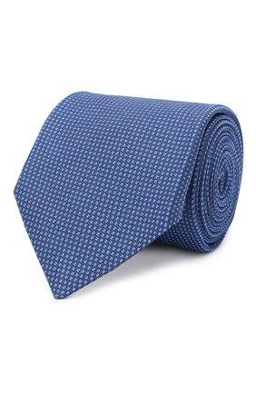 Мужской шелковый галстук KITON синего цвета, арт. UCRVKLC06G07 | Фото 1
