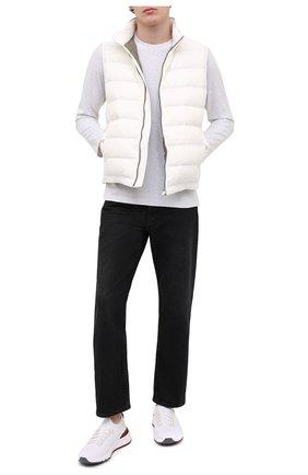 Мужские текстильные кроссовки BRUNELLO CUCINELLI белого цвета, арт. MZUPMB0252 | Фото 2