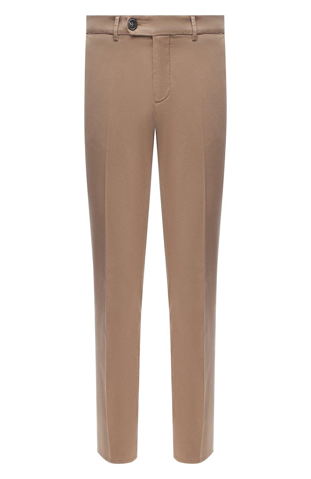 Мужские хлопковые брюки BRUNELLO CUCINELLI темно-бежевого цвета, арт. M289LB1770 | Фото 1 (Силуэт М (брюки): Чиносы; Длина (брюки, джинсы): Стандартные; Случай: Повседневный; Материал внешний: Хлопок; Стили: Кэжуэл)