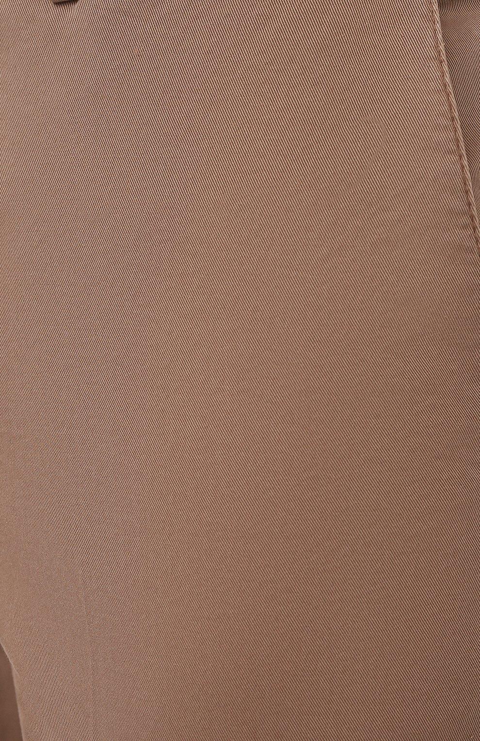 Мужские хлопковые брюки BRUNELLO CUCINELLI темно-бежевого цвета, арт. M289LB1770 | Фото 5 (Силуэт М (брюки): Чиносы; Длина (брюки, джинсы): Стандартные; Случай: Повседневный; Материал внешний: Хлопок; Стили: Кэжуэл)