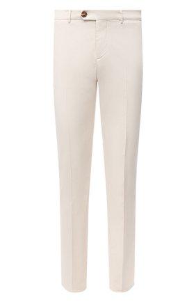 Мужские хлопковые брюки BRUNELLO CUCINELLI белого цвета, арт. M289LB1770 | Фото 1
