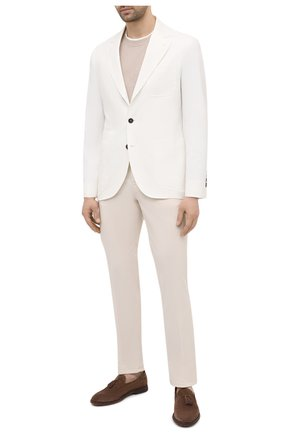 Мужские хлопковые брюки BRUNELLO CUCINELLI белого цвета, арт. M289LB1770 | Фото 2 (Силуэт М (брюки): Чиносы; Длина (брюки, джинсы): Стандартные; Случай: Повседневный; Материал внешний: Хлопок; Стили: Кэжуэл)