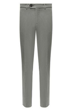 Мужские хлопковые брюки BRUNELLO CUCINELLI хаки цвета, арт. M289LB1770 | Фото 1 (Длина (брюки, джинсы): Стандартные; Материал внешний: Хлопок; Случай: Повседневный; Силуэт М (брюки): Чиносы; Стили: Кэжуэл)