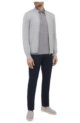 Мужские хлопковые брюки BRUNELLO CUCINELLI синего цвета, арт. M289LB1770 | Фото 2
