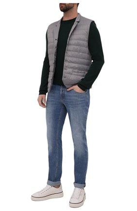 Мужские джинсы BRUNELLO CUCINELLI голубого цвета, арт. M283PB2210 | Фото 2