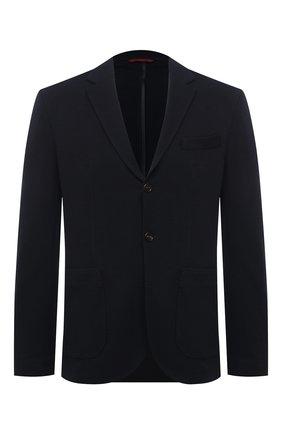 Мужской шерстяной пиджак BRUNELLO CUCINELLI темно-синего цвета, арт. ML8548J01   Фото 1