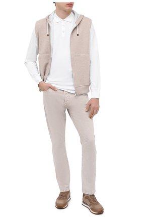 Мужские джинсы BRUNELLO CUCINELLI бежевого цвета, арт. M0H43X1290 | Фото 2
