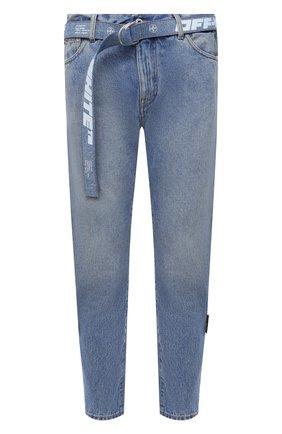 Мужские джинсы OFF-WHITE синего цвета, арт. 0MYA005R21DEN003 | Фото 1