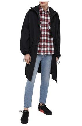 Мужские джинсы OFF-WHITE синего цвета, арт. 0MYA005R21DEN003 | Фото 2