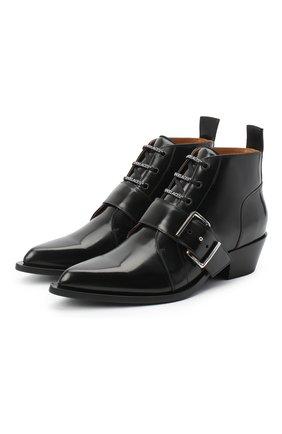 Мужские кожаные казаки OFF-WHITE черного цвета, арт. 0MID002R21LEA0011000 | Фото 1 (Материал внутренний: Натуральная кожа; Каблук высота: Высокий; Подошва: Плоская; Мужское Кросс-КТ: Сапоги-обувь, Казаки-обувь)