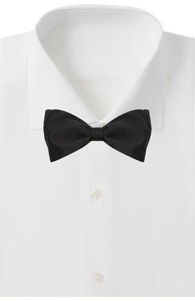 Мужской шелковый галстук-бабочка BRIONI черного цвета, арт. 01S200/PZ411 | Фото 2