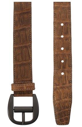 Мужской кожаный ремень BOTTEGA VENETA бежевого цвета, арт. 163777/V8020 | Фото 2