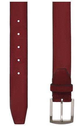 Мужской замшевый ремень KITON бордового цвета, арт. USC4P/N00113 | Фото 2 (Случай: Повседневный; Материал: Замша)