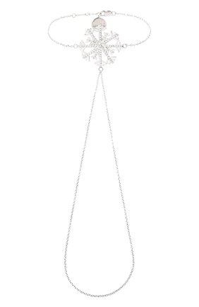 Женский браслет изморозь DZHANELLI серебряного цвета, арт. 0239 | Фото 1