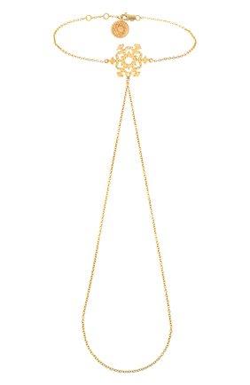 Женский браслет ажурная снежинка DZHANELLI золотого цвета, арт. 0240 | Фото 2