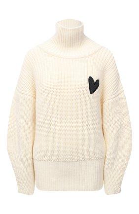 Женский шерстяной свитер BOSS белого цвета, арт. 50442544 | Фото 1