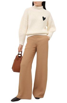 Женский шерстяной свитер BOSS белого цвета, арт. 50442544 | Фото 2