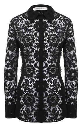 Женская блузка VALENTINO черного цвета, арт. VB3AB1Z51EC | Фото 1