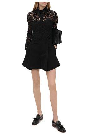Женская блузка VALENTINO черного цвета, арт. VB3AB1Z51EC | Фото 2