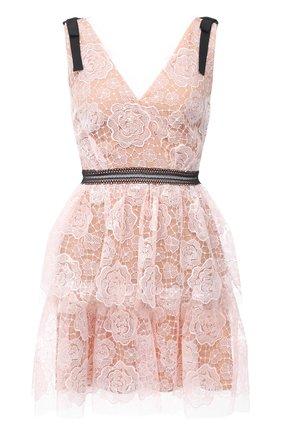 Женское платье SELF-PORTRAIT светло-розового цвета, арт. RS21-135S | Фото 1
