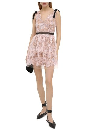 Женское платье SELF-PORTRAIT светло-розового цвета, арт. RS21-135S | Фото 2