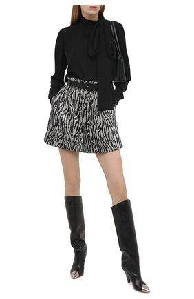 Женские шорты с пайетками SELF-PORTRAIT черно-белого цвета, арт. RS21-060 | Фото 2 (Материал внешний: Синтетический материал; Длина Ж (юбки, платья, шорты): Мини; Стили: Гламурный; Материал подклада: Синтетический материал; Женское Кросс-КТ: Шорты-одежда)