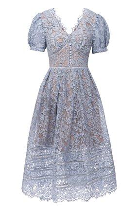 Женское платье SELF-PORTRAIT голубого цвета, арт. RS21-035B   Фото 1