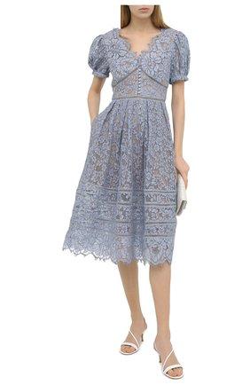 Женское платье SELF-PORTRAIT голубого цвета, арт. RS21-035B   Фото 2