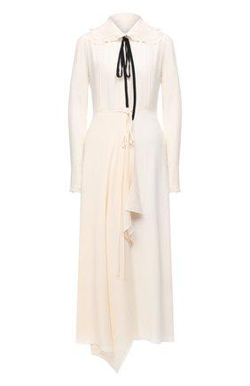 Женское шелковое платье VICTORIA BECKHAM кремвого цвета, арт. 1121WDR002283A | Фото 1
