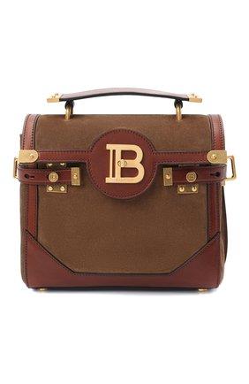 Женская сумка bbuzz 23 BALMAIN коричневого цвета, арт. VN1S599/LCCU | Фото 1