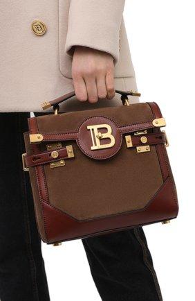 Женская сумка bbuzz 23 BALMAIN коричневого цвета, арт. VN1S599/LCCU | Фото 2