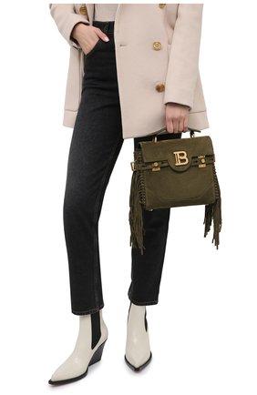 Женская сумка bbuzz 23 BALMAIN хаки цвета, арт. VN1S534/LCRF | Фото 2
