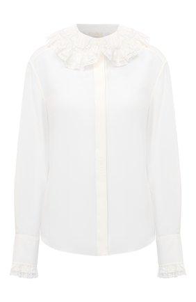 Женская шелковая рубашка CHLOÉ белого цвета, арт. CHC21SHT04004 | Фото 1