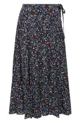 Женская юбка из вискозы CHLOÉ темно-синего цвета, арт. CHC21SJU06331 | Фото 1