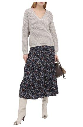 Женская юбка из вискозы CHLOÉ темно-синего цвета, арт. CHC21SJU06331 | Фото 2