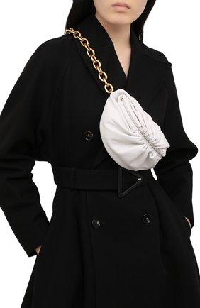 Женская поясная сумка the belt chain pouch BOTTEGA VENETA белого цвета, арт. 651445/VCP41 | Фото 2