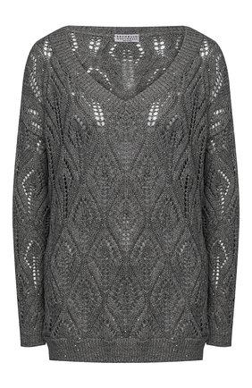 Женский пуловер BRUNELLO CUCINELLI темно-серого цвета, арт. MAJ584902 | Фото 1